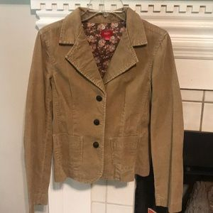 New Mossimo corduroy Tan Jacket Large Cute